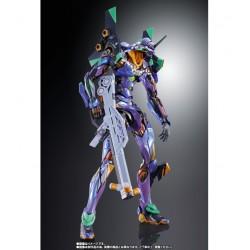 EVA-01 Test Type Metallic Versión Figura 22 cm Neon Genesis Evangelion Metal Build