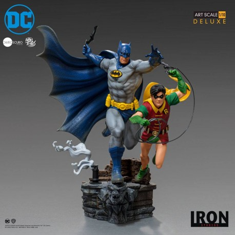 DC Comics Estatua 1/10 Deluxe Art Scale Batman & Robin by Ivan Reis 25 cm Iron Studios