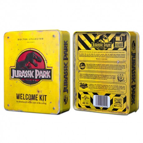 Jurassic Park Caja Metal Wecome Kit Standard Doctor Collector
