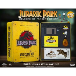 Jurassic Park Caja Metal Welcome Kit Amber Doctor Collector