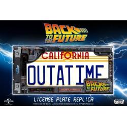 Back To The Future Replica 1/1 ´Outatime´ DeLorean Matrícula Doctor Collector