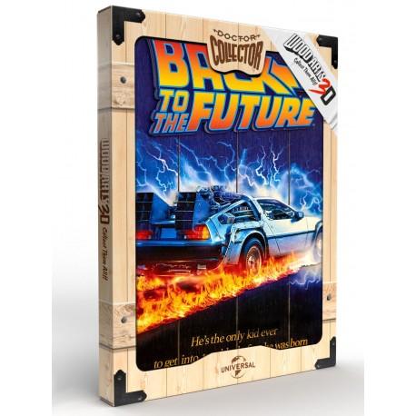 Back To The Future Cartel Madera 30 x 40 Woodart 3D Print Regreso al Futuro Doctor Collector