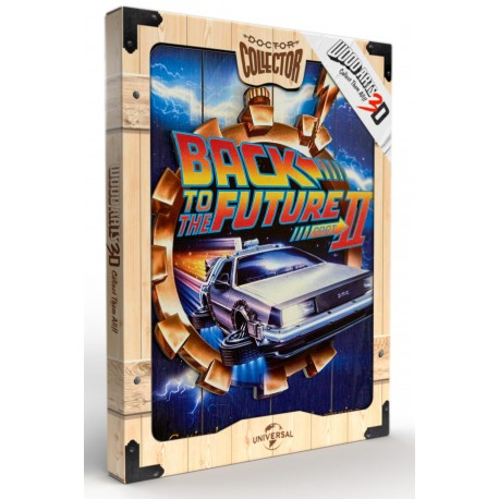 Back To The Future II Cartel Madera 30 x 40 CM Woodart 3D Print Doctor Collector