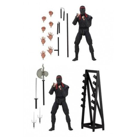 FOOT SOLDIER WITH WEAPONS RACK PACK 2 FIGURAS 18 CM SCALE ACTION FIGURE TMNT (1990)