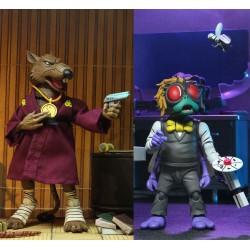Tortugas Ninja Pack de 2 Figuras Splinter & Baxter 18 cm