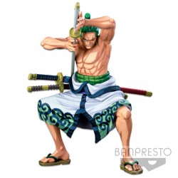 Figura The Roronoa Zoro Two Dimensions Super Master Star Piece Banpresto World Colosseum 3 One Piece 22cm