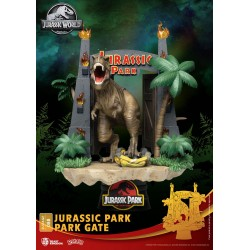 Parque Jurásico Diorama PVC D-Stage Park Gate 15 cm