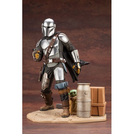 Star Wars The Mandalorian Estatua ARTFX 1/7 Mandalorian & The Child 26 cm