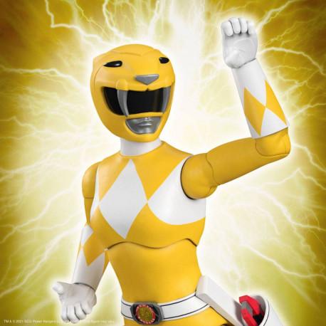 Mighty Morphin Power Rangers Galácticos Figura Ultimates Yellow Ranger 18 cm