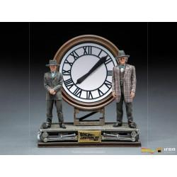 Regreso al Futuro III Estatua 1/10 Deluxe Art Scale Marty and Doc at the Clock 30 cm
