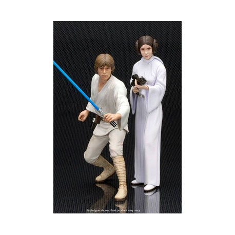 Star Wars Pack de 2 Estatuas ARTFX+ Luke Skywalker & Princesa Leia 15 cm