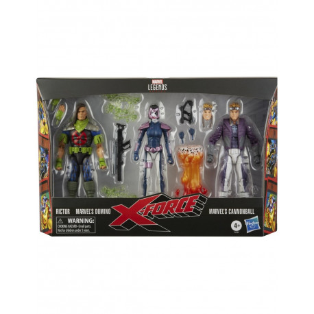 DOMINO, RICTOR, CANNONBALL PACK 3 FIG 15 CM X-FORCE MARVEL LEGENDS
