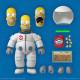 Los Simpson Figura Ultimates Deep Space Homer 18 cm