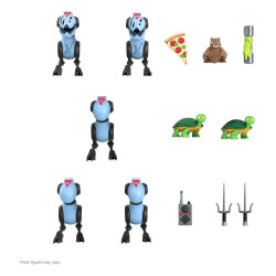 Tortugas Ninja PAck de 5 Figuras Ultimates Mousers 8 cm