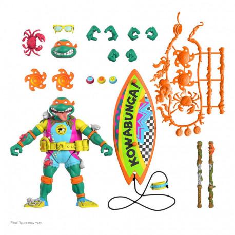 Tortugas Ninja Figura Ultimates Sewer Surfer Mike 18 cm