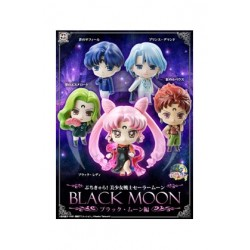 Sailor Moon Petit Chara Pretty Soldier Pack de 5 Figuras Black Moon 6 cm