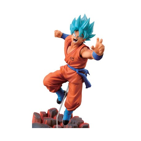 Dragon Ball Z Rebirth of F Figura Scultures Big Budokai Super Saiyan God Son Goku 10 cm