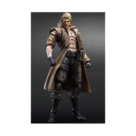 Metal Gear Solid Play Arts Kai Figura Solidus Snake 28 cm