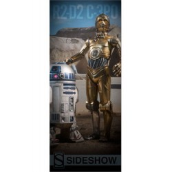 Sideshow Collectibles Banner Star Wars C-3PO & R2-D2 76 x 183 cm