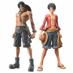 One Piece Figuras Master Stars Piece Monkey D. Luffy & Portgas D. Ace 26 cm