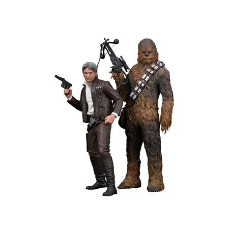 Star Wars Episode VII Pack de 2 Estatuas 1/10 ARTFX+ Han Solo & Chewbacca 20 - 23 cm