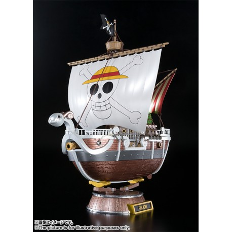 One Piece Chogokin Going Merry 20th Anniversary Metal Color Version 28 cm