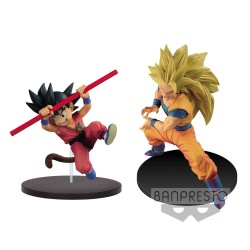 Dragon Ball Super Figuras Son Goku Fes Young Goku & Super Saiyan 3 Goku 14 cm