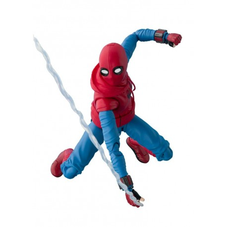 Spider-Man Homecoming SH Figuarts Spider-Man Homesuit & Option Act Wall 15 cm