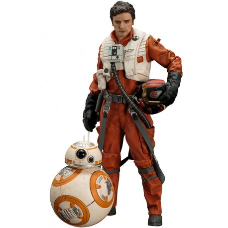 Star Wars Episode VII Pack de 2 Estatuas 1/10 ARTFX+ Poe Dameron & BB-8 7 - 18 cm