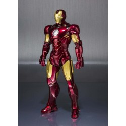Iron Man 2 SH Figuarts Iron Man Mark IV & Hall of Armor Set  14 cm