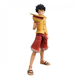 One Piece Figura Action Heroes Monkey D Luffy Past Blue (Yellow Ver.) 17 cm