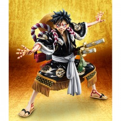 One Piece Estatua PVC Excellent Model P.O.P. Monkey D. Luffy Kabuki Edition Black 21 cm
