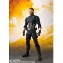 Marvel Avengers Inifinity Wars SH Figuarts Capitan America 16 cm + Tamashii Effect Explosion