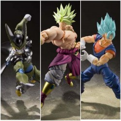 Pack Dragon Ball SH Figuarts Broly, SSGSS Vegetto, Perfect Cell Salon del Manga