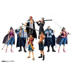 One Piece Chozokei Law's Ambition Display 8 figuras