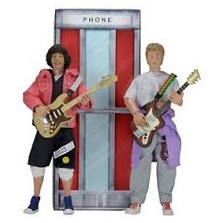 Bill & Ted Pack de 2 figuras de 20 cm. Bill And Ted 's Excellent Adventure Clothed Figure Neca