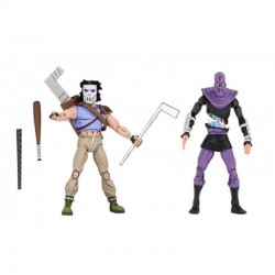 Casey Jones & Foot Soldier Pack 2 Figuras 18 cm Scale Action Figure TMNT Cartoon Series 3 Neca