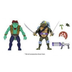 Tortugas Ninja Pack de 2 Figuras Leather Head & Slash 18 cm TMNT Neca