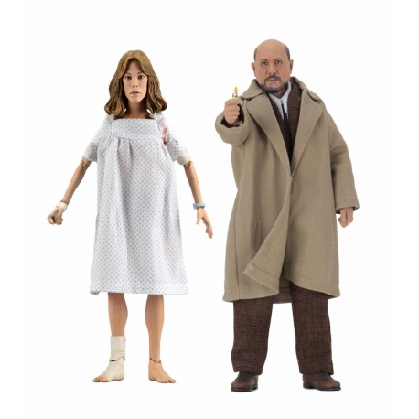 Doctor LoomisS & Lauries Strode Set 2 Figuras 20 cm Halloween 2 Clothed Action Figure Neca