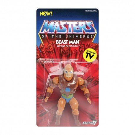 Masters of the Universe Figura Vintage Collection Wave 2 Beast Man 14 cm Motu Super 7