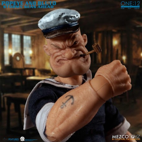 Popeye y Brutus Set Deluxe 2 Figuras 14-18 cm Popeye The One:12 Collective Mezco