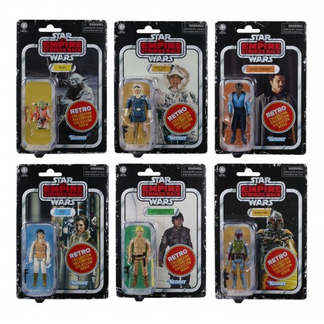 Star Wars Episode V Retro Collection Figuras 10 cm 2020 Surtido 6 Figuras Hasbro