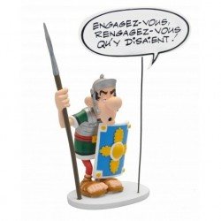 Romano con Bocadillo Figura Resina 22cm Astérix y Obélix Comic Speech Collection Plastoy