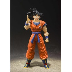 SH Figuarts Son Goku Raised On Earth Figura 14cm Dragon Ball Z Bandai